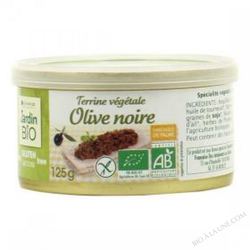 Terrine vegetale Olive noire sans gluten 125 g