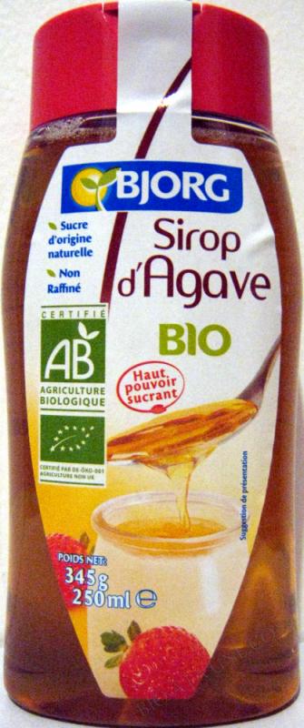 Sucre Sirop d'agave blond 250ml/345g