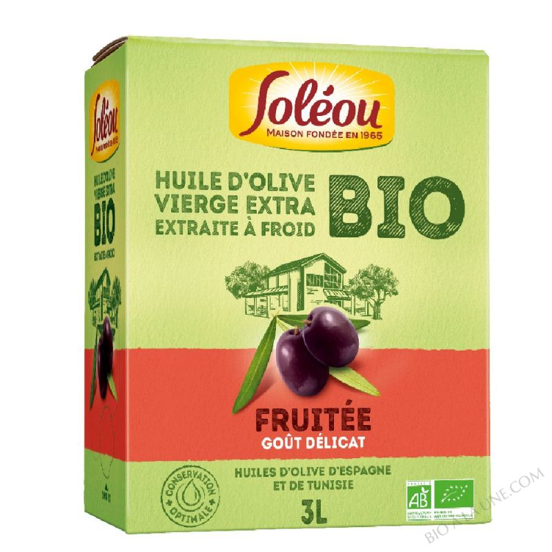Huile d'Olive BIO Fruitée BIB - 3L