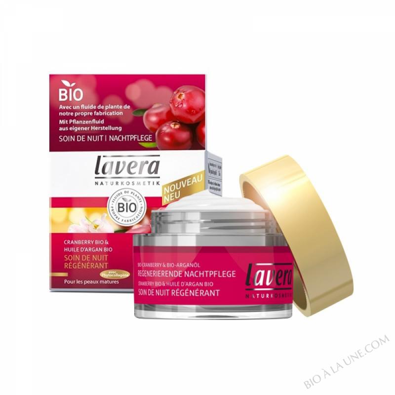 Soin de nuit régénérant anti-rides cranberry - 50 ml  -
