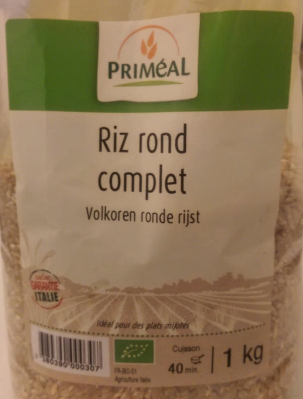 Riz Rond Complet d'Italie 1kg
