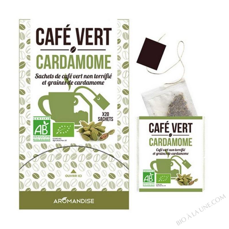 MÉLANGE CAFÉ VERT   CARDAMOME EN SACHET