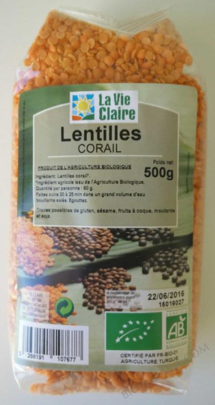 lentilles corail 500 g