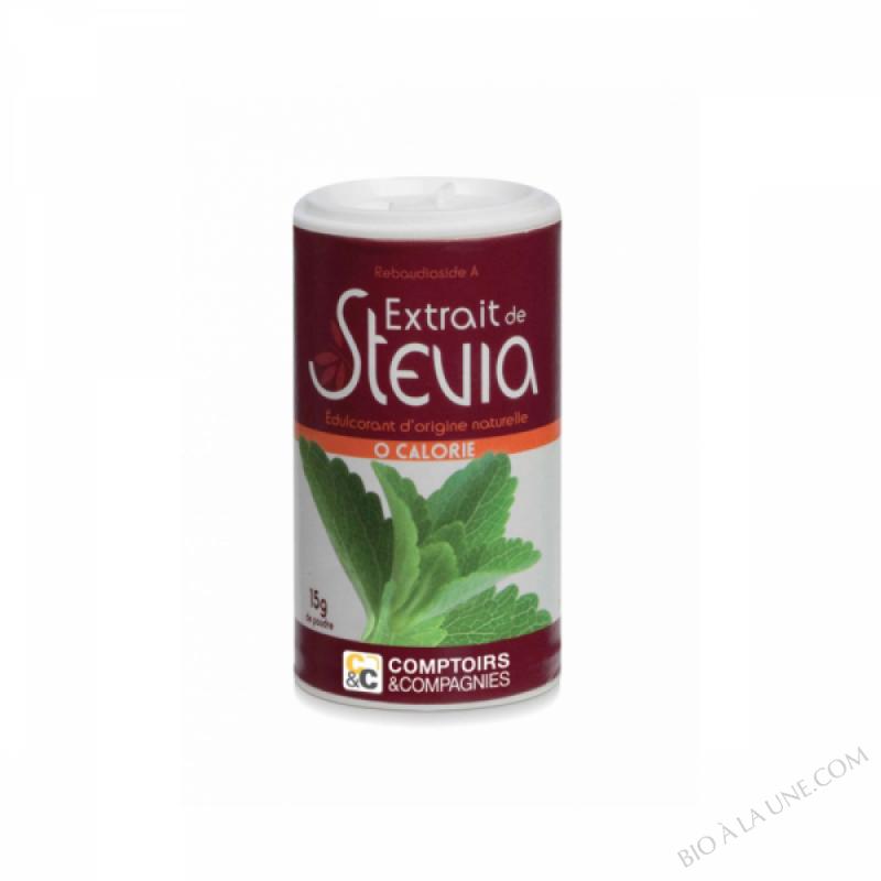 Extrait de stevia en poudre - 15g