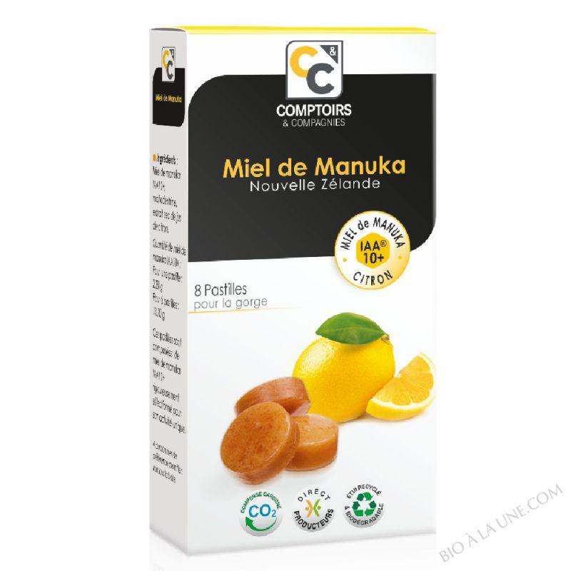 PASTILLES MIEL DE MANUKA IAA10+ ET ARÔME CITRON Complément alimentaire
