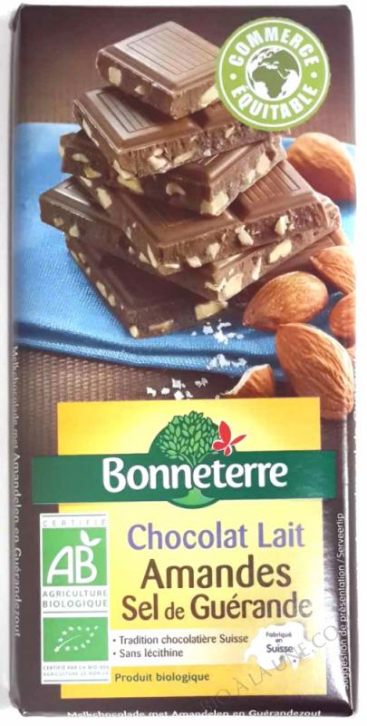Chocolat lait amandes sel de Guerande 100g