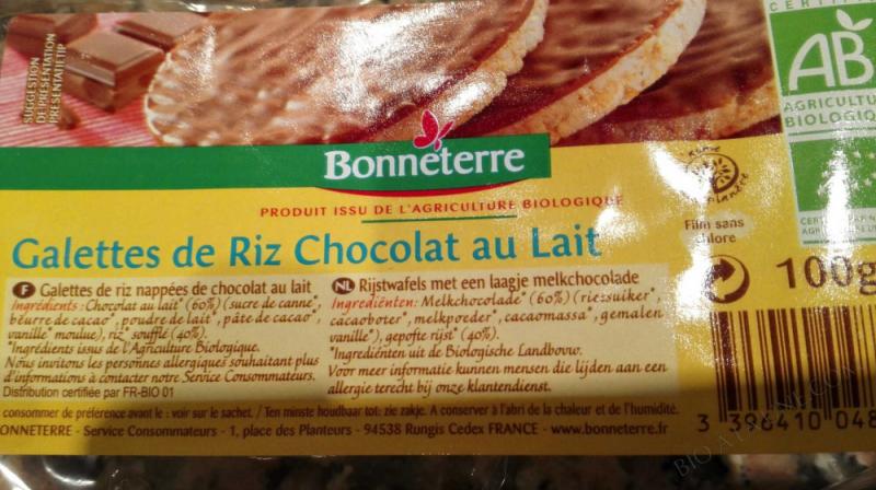 GALETTES DE RIZ CHOCOLAT AU LAIT