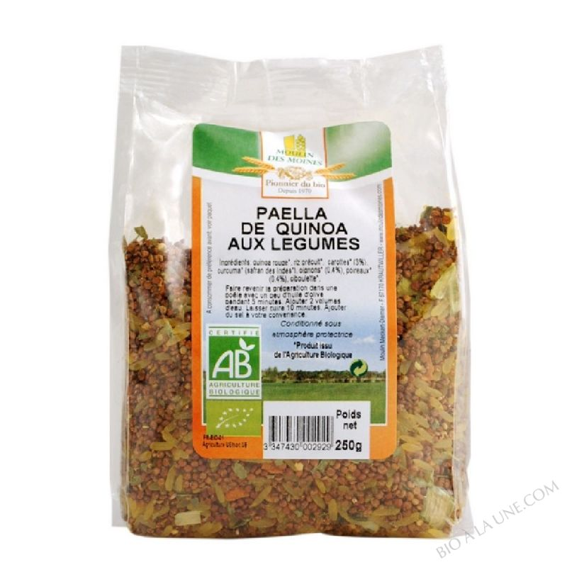 Paella de quinoa aux legumes - 250g