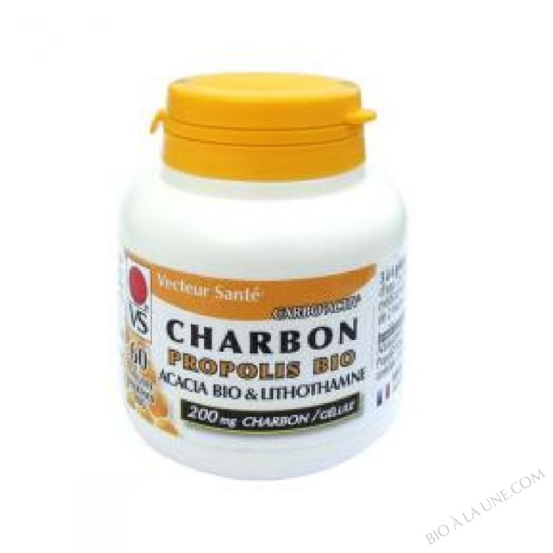 Charbon vegetal super active à la Propolis 60 gel
