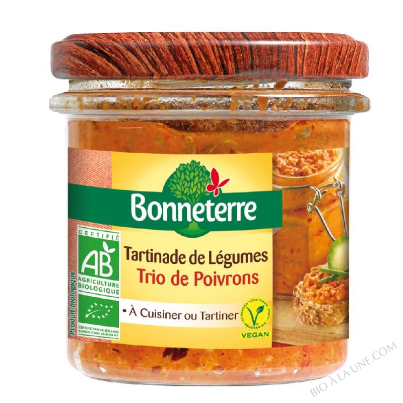 Tartinade de légumes trio de poivrons
