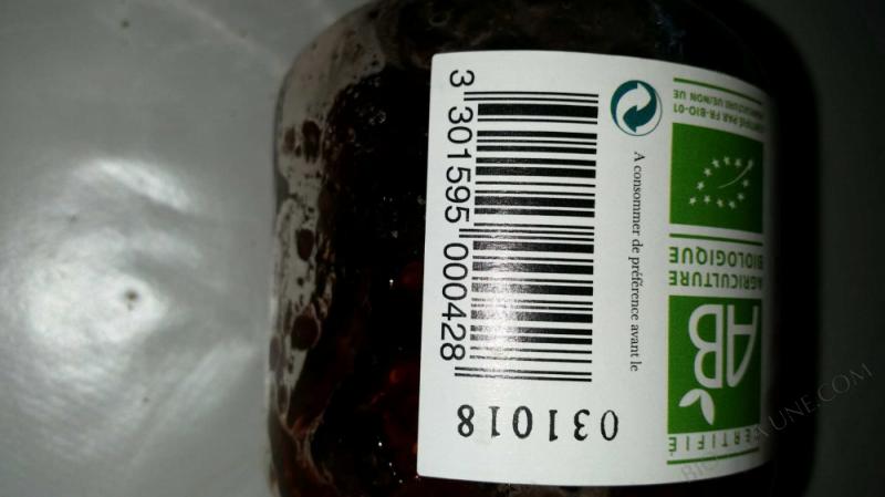 Confiture framboises extra Bio 325g