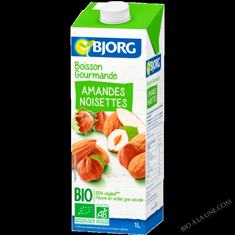 Boisson gourmande vegetale amandes noisettes 1L