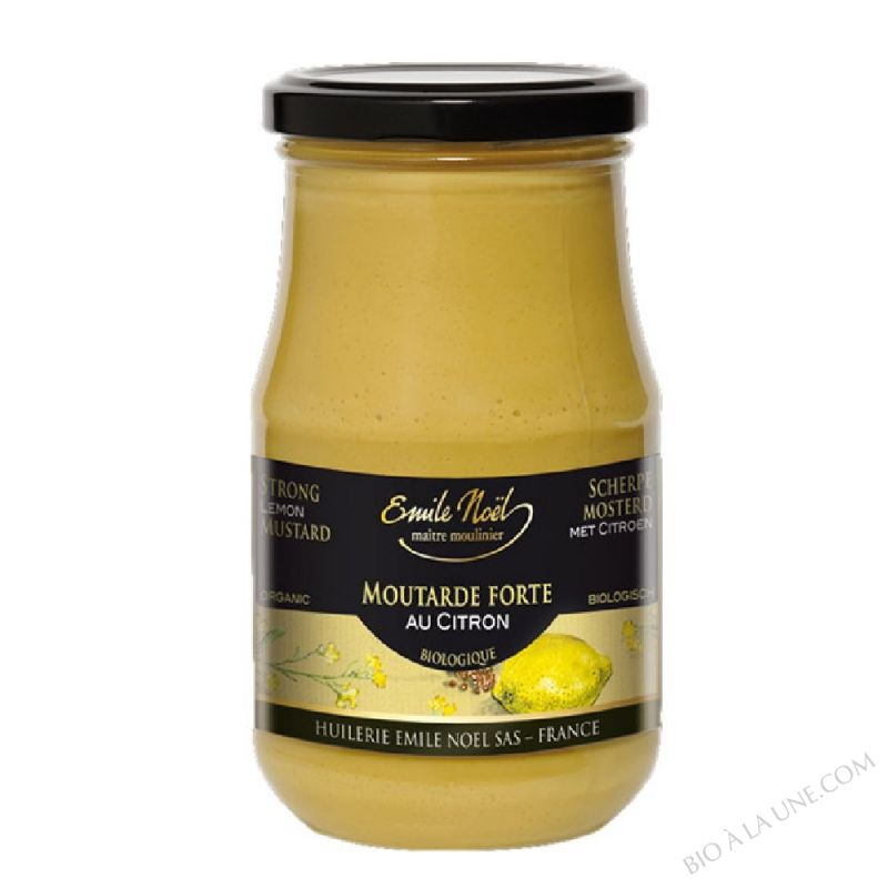 Moutarde forte au citron bio - 200g