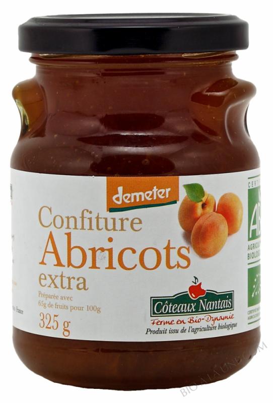 Confiture abricots extra Bio et Demeter 325g