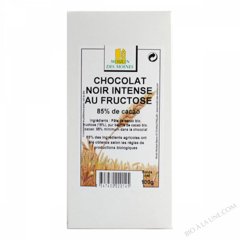 Chocolat noir 85% de cacao au fructose - 100g