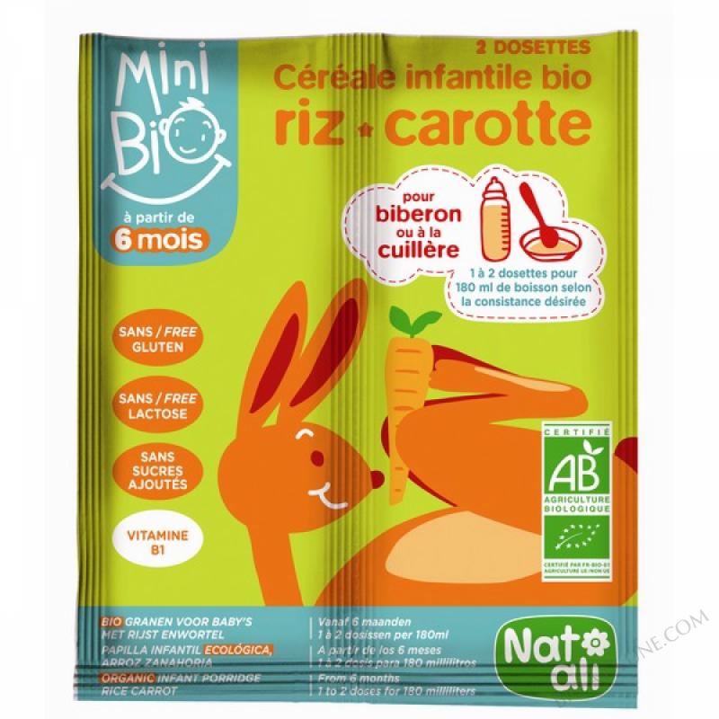 Cereales infantiles bio-carotte 16g