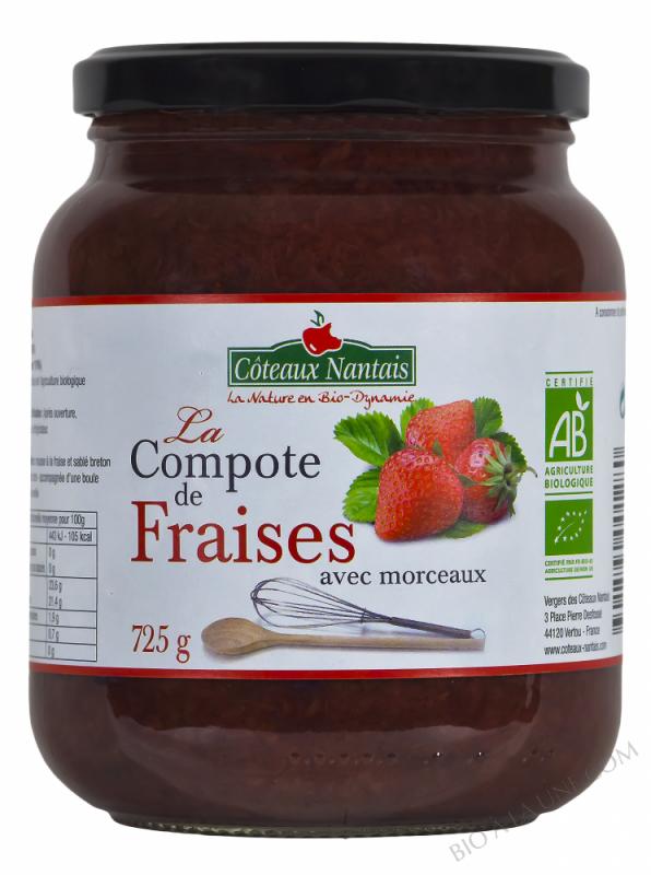 La compote de fraises Bio 725g