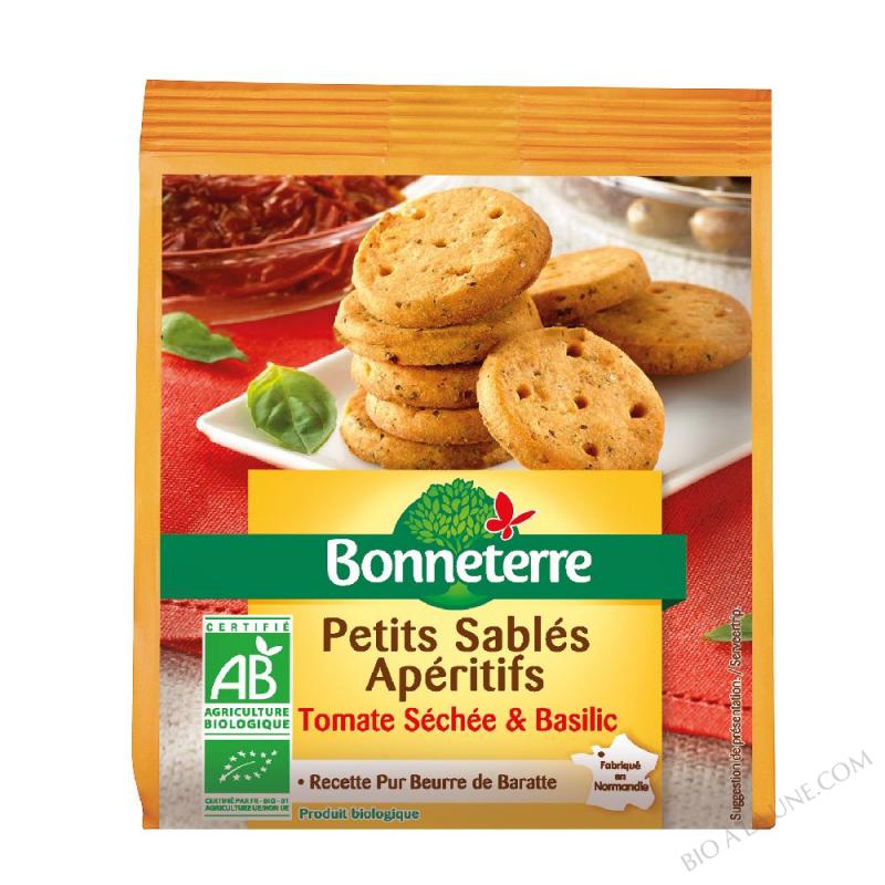 Petits sablés Apéritifs Tomate séchée & basilic