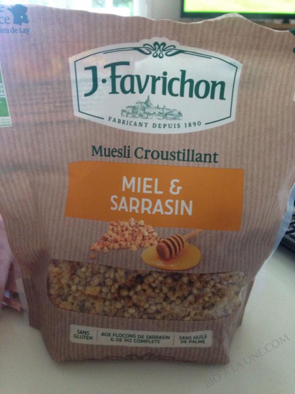 MUESLI CROUSTILLANT MIEL SARRASIN - 500 g
