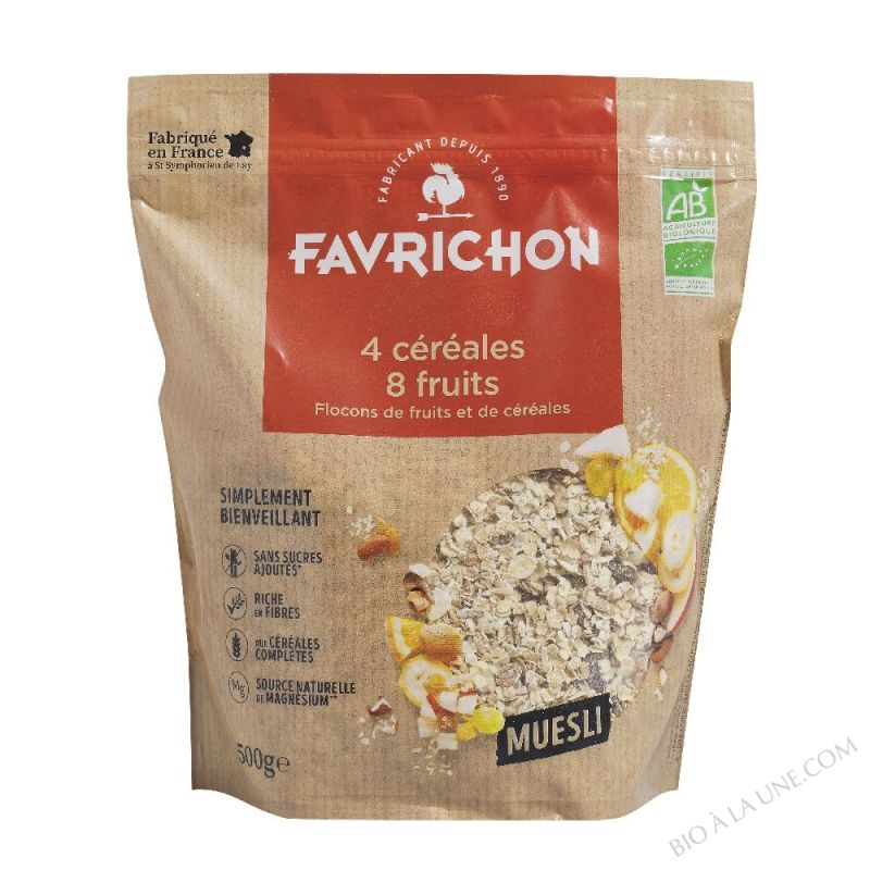 MUESLI TRADITION 4 CÉRÉALES 8 FRUITS - 500 g