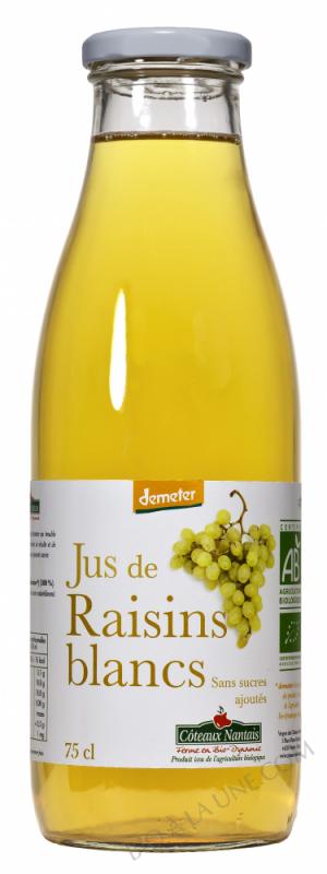 Jus raisins blancs Bio et Demeter 75cl