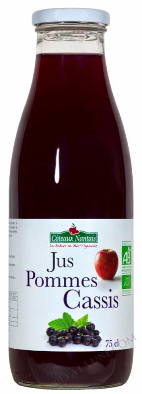 Jus pommes cassis 75 cl
