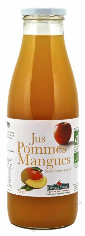 Jus pommes mangues Bio 75cl