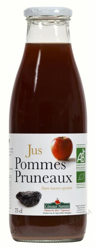 Jus pommes pruneaux Bio 75cl