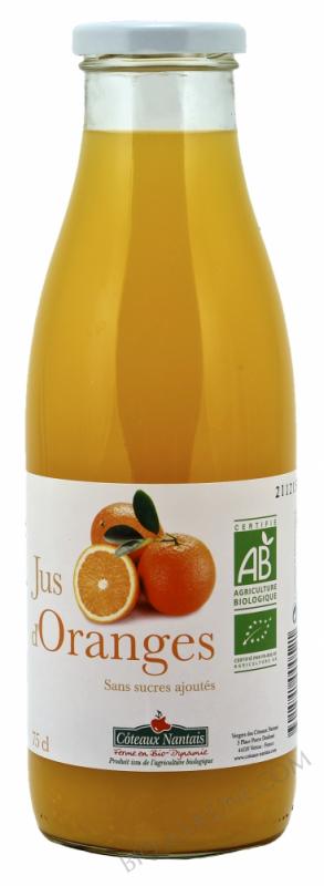 Jus oranges Bio 75cl