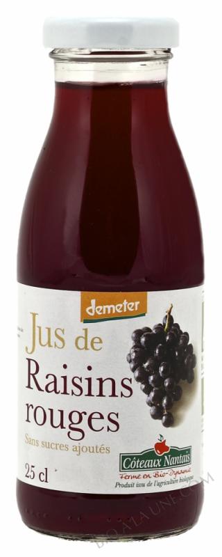 Jus raisins rouges Bio et Demeter 25cl