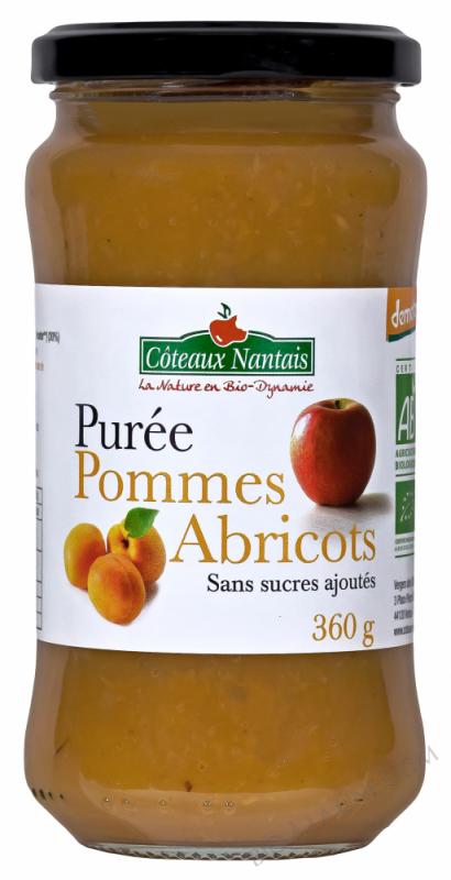 Purée pommes abricots 360 g Demeter