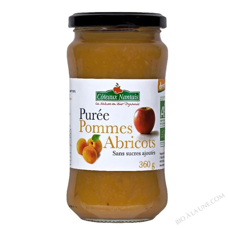 Puree pommes abricots Bio et Demeter 360g