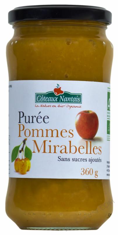 Puree pommes mirabelles Bio 360g