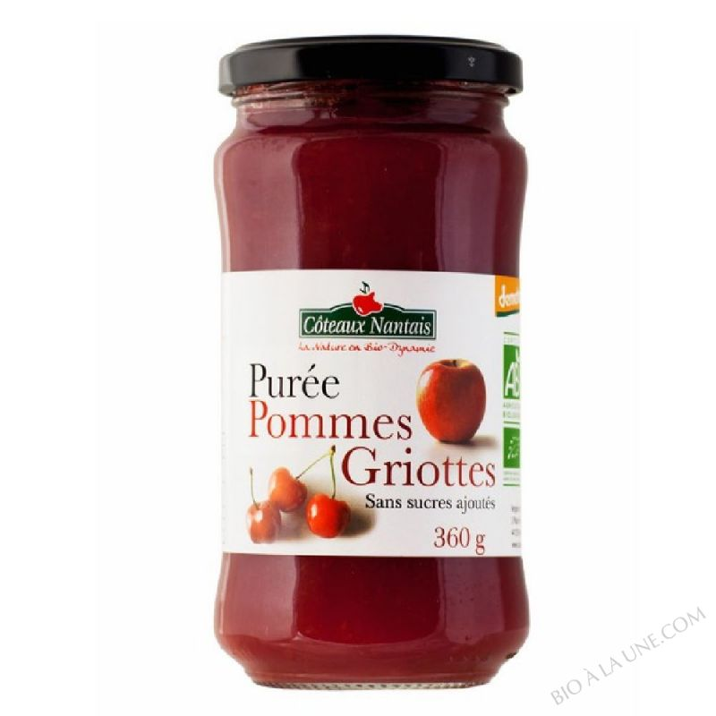 Puree pommes griottes 360 g