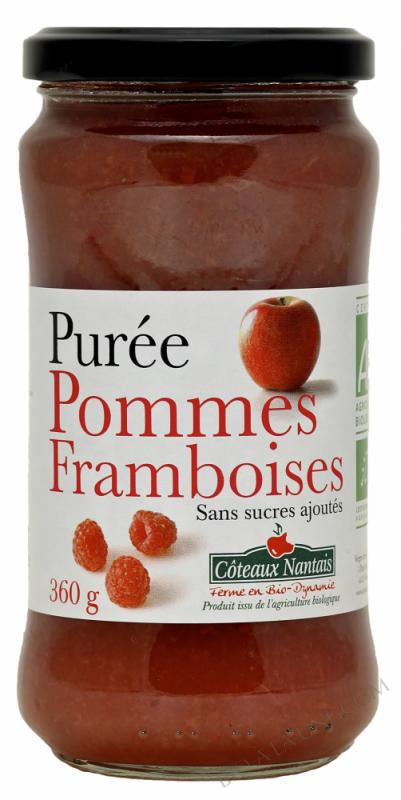 Puree pommes framboises Bio 360g