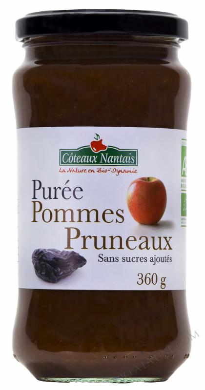 Puree pommes pruneaux Bio 360g