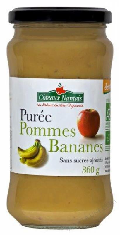 Purée pommes bananes 360 g Demeter