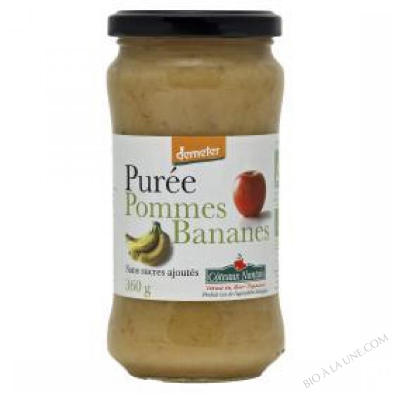 Puree pommes bananes Bio et Demeter 360g