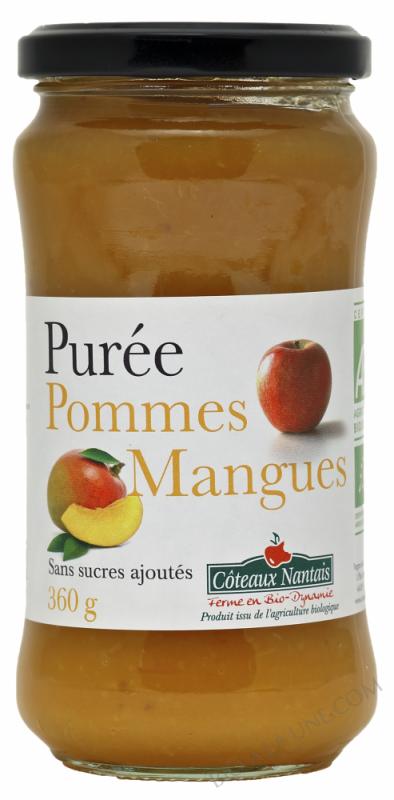 Puree pommes mangues Bio 360g