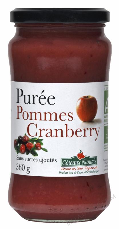 Puree pommes cranberry Bio 360g