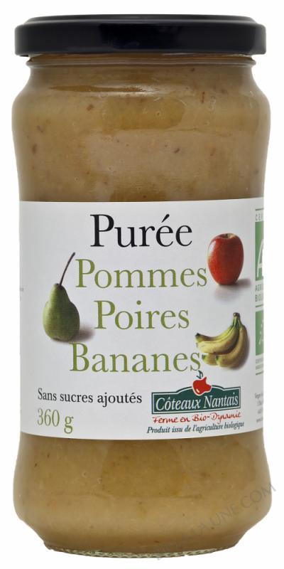Puree pommes poires bananes Bio 360g