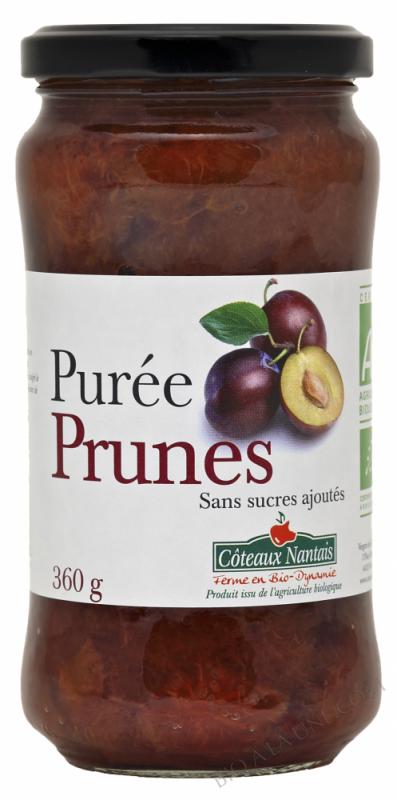 Puree prunes Bio 360g