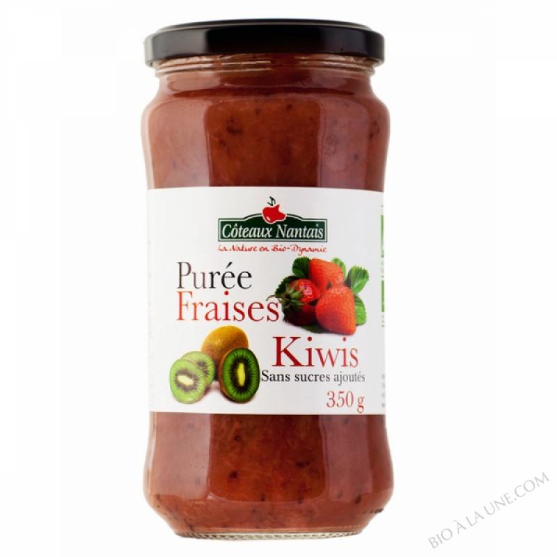 Puree fraises kiwis 350 g