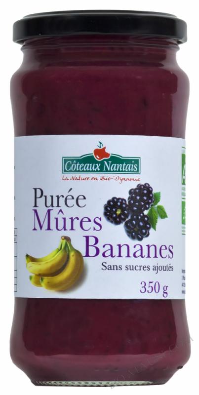 Puree mûres banane Bio 350g