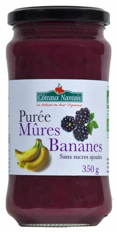Purée mûres bananes 350 g