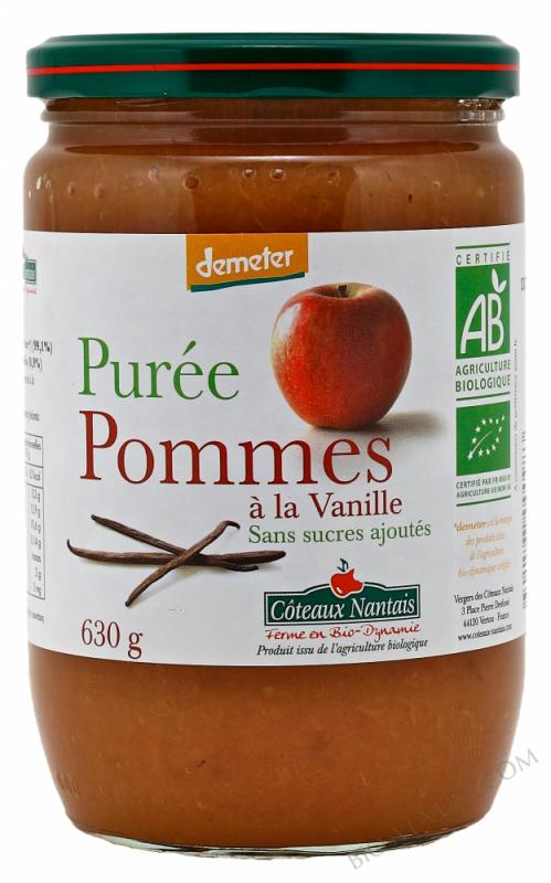 Puree pommes vanille Bio et Demeter 630g