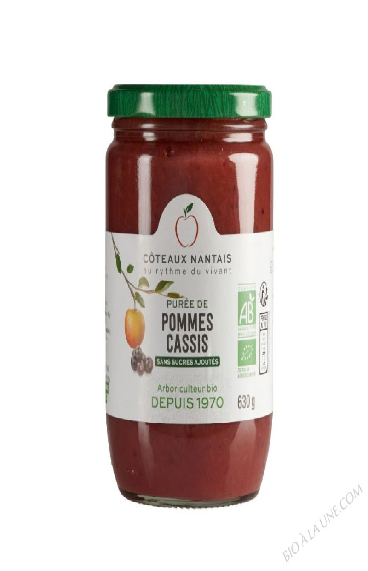 Puree pommes cassis Bio 630g
