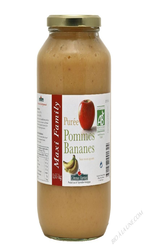 Puree pommes bananes Bio 1,65kg