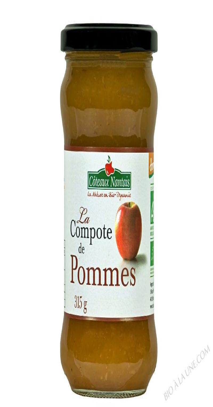 La compote de pommes Bio et Demeter 315g