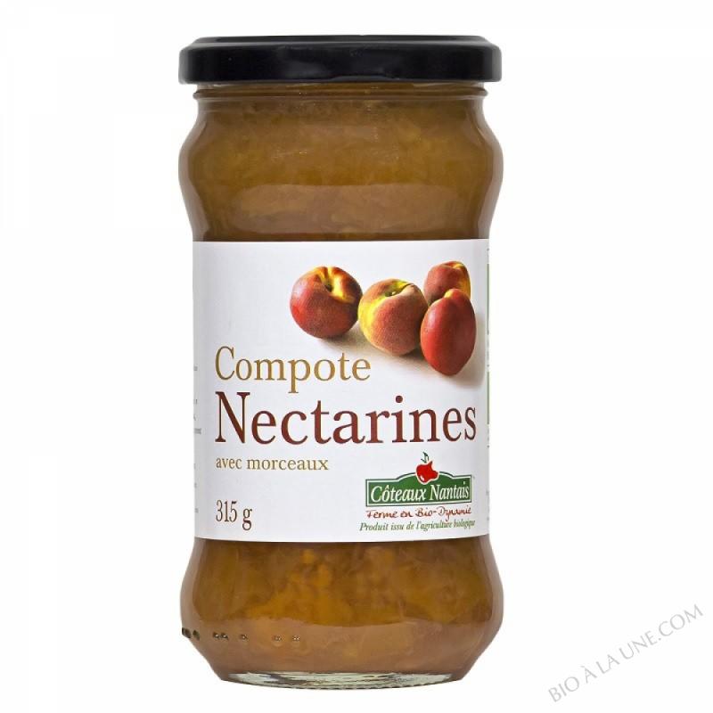 La compote de nectarines Bio 315g